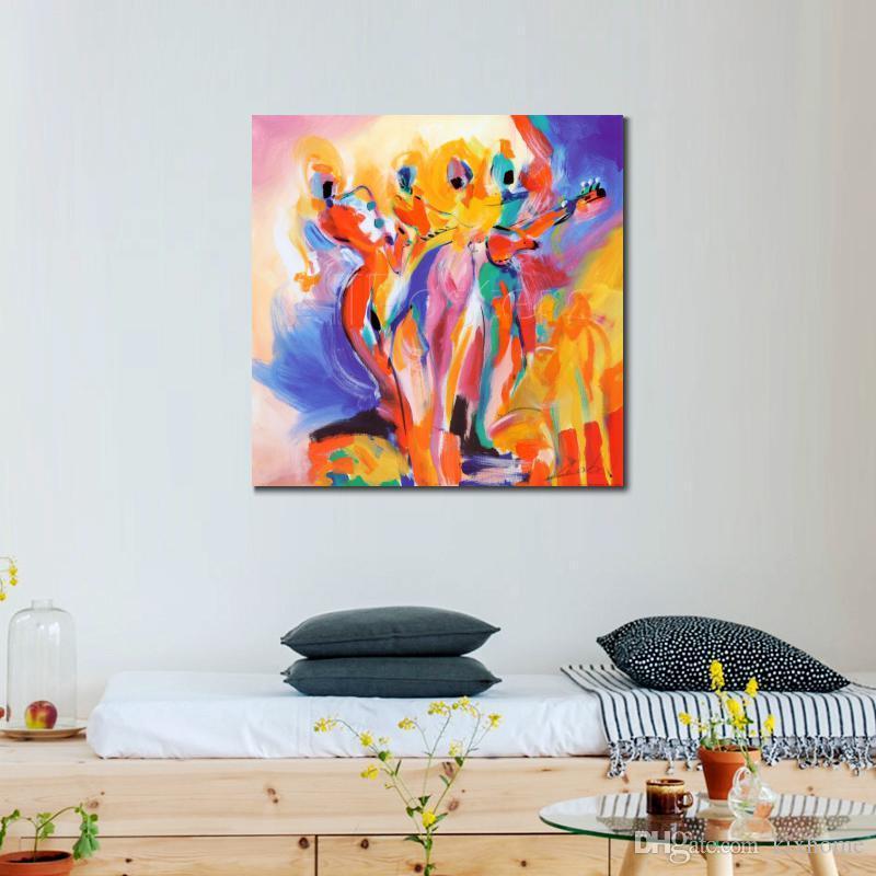 art de haute qualité de reproduction des peintures à l'huile Alfred Gockel Jazz Explosion abstraite moderne peinte à la main