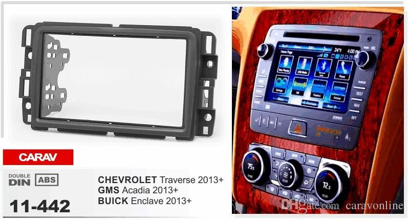 CARAV 11-442 ARABA Radyo kurulum dash montaj montaj seti BUICK Enclave 2013+ için / CHEVROLET Traverse 2013+ / GMS Acadia 2-DIN