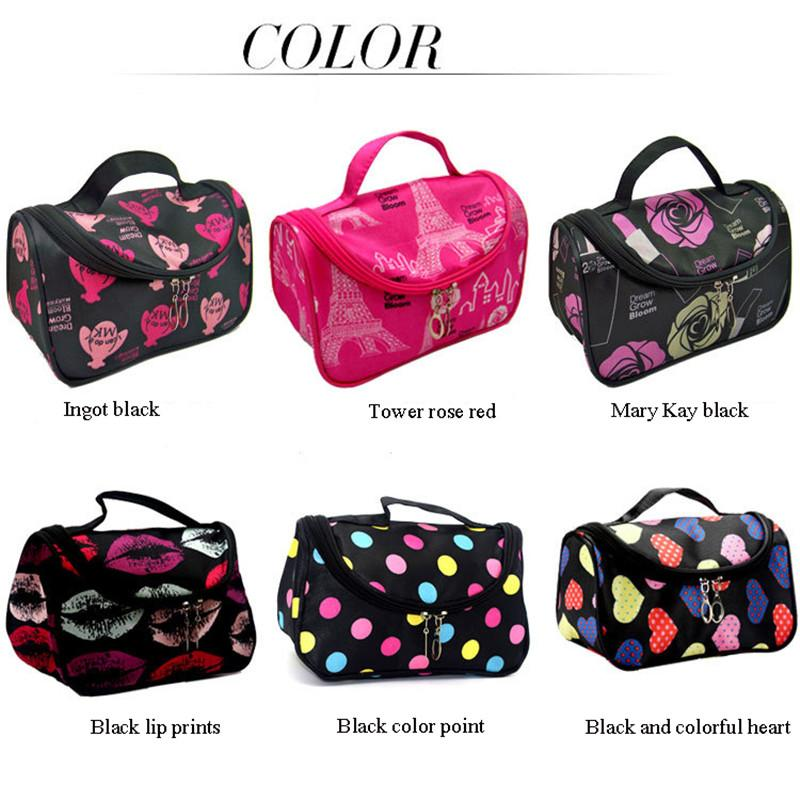 Newest canvas cosmetic bag mini fashion women girl makeup pouch portable travel cosmetic bag with zipper