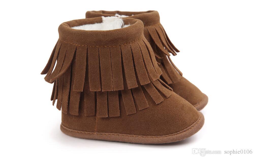 Girl Boy Winter boots Scarponi da bambino primi camminatori Scarponi da neve invernali da bambino Scarponi da bambino primi camminatori Scarpine con suola morbida per bambini Scarponcini per bambini primi camminatori