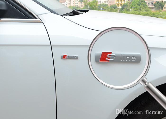 1000 PC / lotto all'ingrosso autoadesivi per auto 3D Emblema distintivo S Line Letters Car Styling per Audi logo Accessori auto Borsa opp