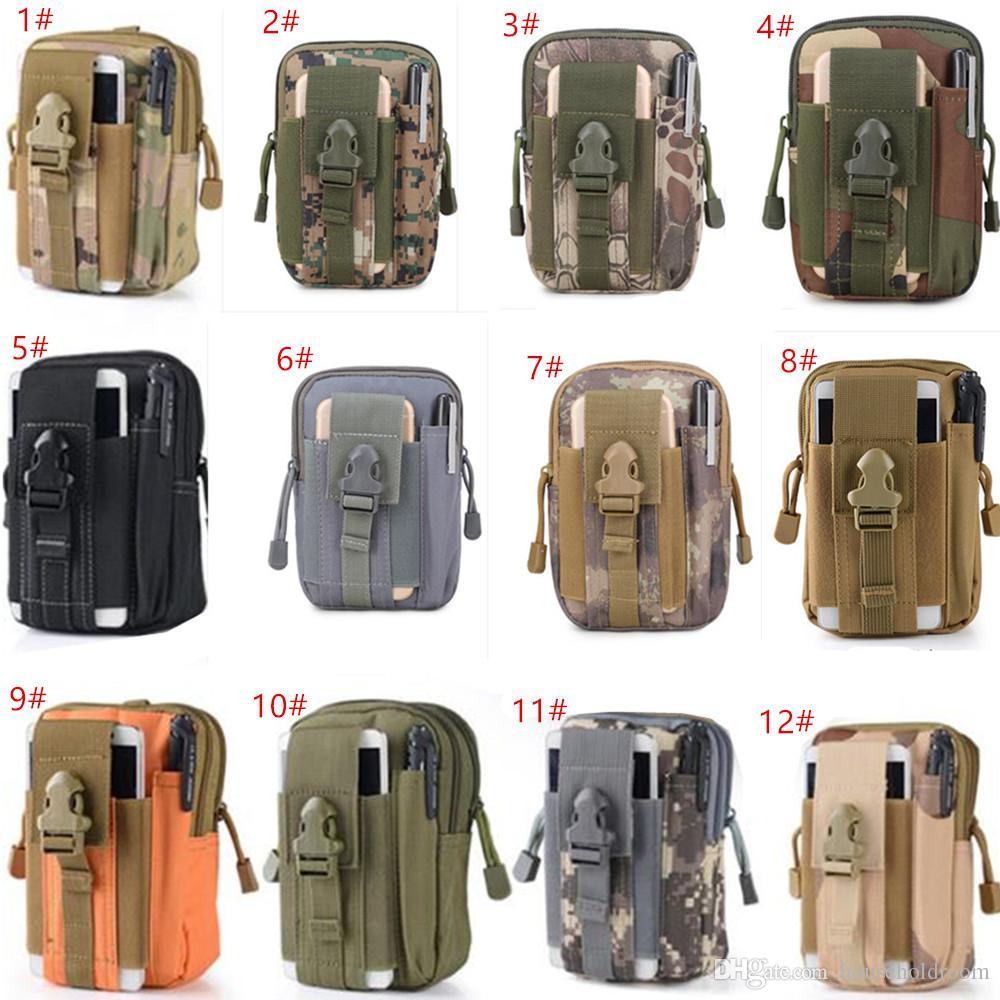 Haute Qualité Sports de plein air Waistpacks Tactical Ceinture Taille Sac Molle Militaire Sacs Mobile Téléphone Portefeuille Voyage Taille Sac