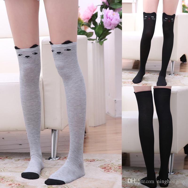 Girls Socks Long Knee Socks 8 Pairs Cotton Over Calf Knee High Socks Animal Socks
