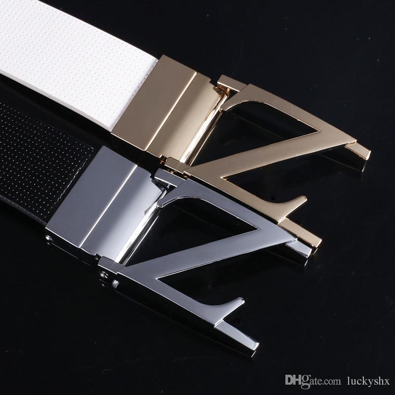 Vente chaude hommes designer en cuir véritable ceintures hommes et femmes de luxe ceintures de peau de vache Business casual lisse Rotation boucle ceinture