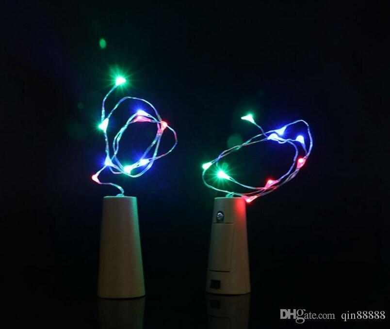 20 leds Wine Bottle Cork Copper wire String Light Battery Operated Starry Rope Fairy Lights For party holiday