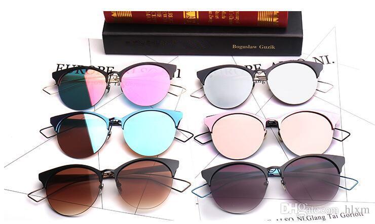 Die neuen Sonnenbrillen 2017 aus Metall brauen rahmenlose Sonnenbrillen mit runder Sonnenbrille 2110 für Männer und Frauen