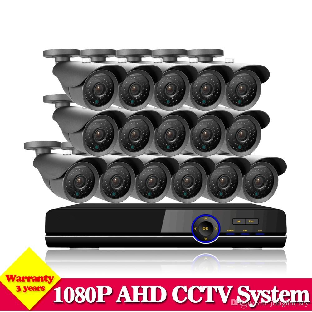 NINI CCTV System 16CH HDMI 1080P DVR Video CCTV System 16Pcs 2.0MP 3000TVL IR outdoor Security Camera Surveillance System