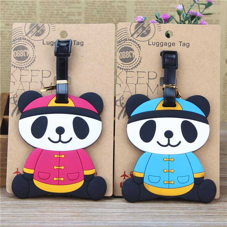 Il nuovo panda costume di marca tag bagagli imbarco in silicone imbarco souvenir turistici Sichuan all'estero regalo creativo