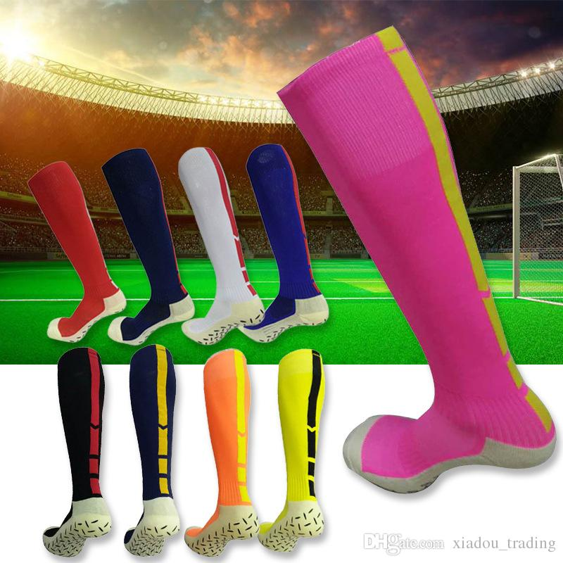 Adult Men Football Socks Non-slip Sport Soccer Long Footwear Winter Leg Warmers For Women Polyester Thicken Sports Chaussette Towel bottom