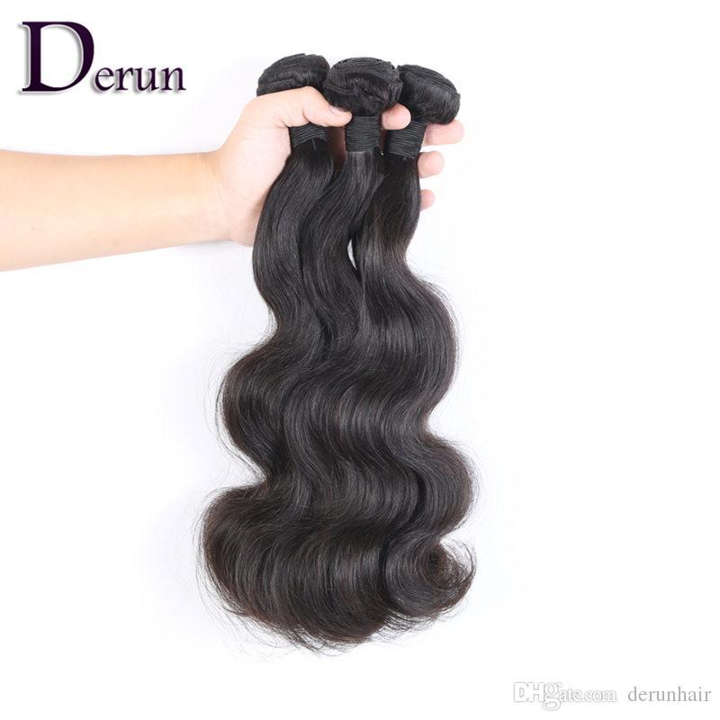 Compre 2 y obtenga 1 cabello GRATIS 100% 7A Extensiones de cabello humano brasileño virgen Body Wave Dyeable Full Head Envío gratis