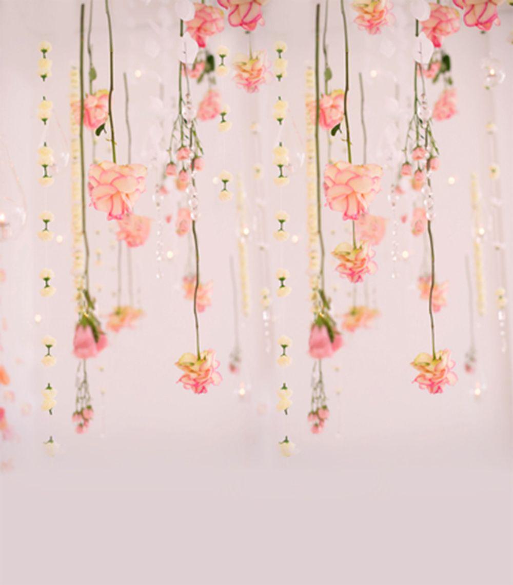 Sfondo floreale rosa floreale Vinile Bellissimi fiori Bambini Neonato Neonato Digital Sfondi Studio Studio Photo Booth Props