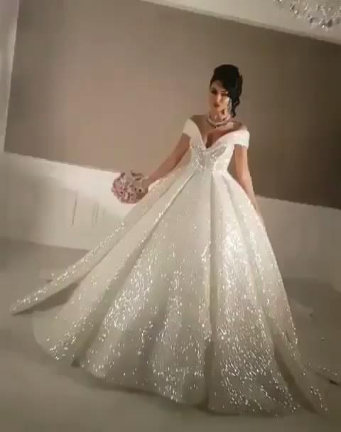 2017 Bling Ball Gown Wedding Dresses With Off Shoulder Chapel Train Glitter Glued Lace Real Image Cinderella Sexy Puffy Bridal Gowns Weding Dresses Best Wedding Dress From Hua Yi Zhang 263 82 Dhgate Com,Nice Short Dresses For Weddings