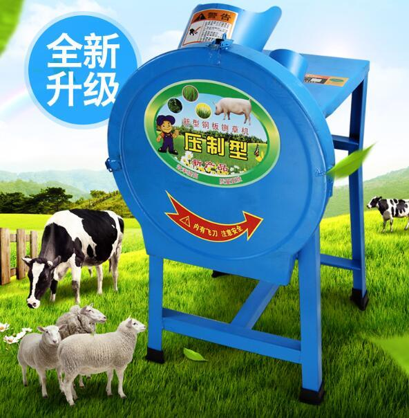2019 Grass Cutting Machine For Dairy Farm Animal Feed Grass Silage Chaff  Cutter Machine For Cattle Sheep Electric Farm Grass Shredder From