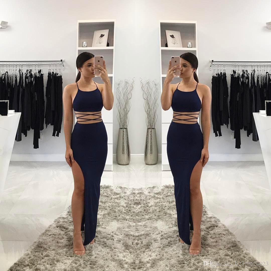 Großhandel Summer Women Sleeveless Zweiteilige Sätze Kleid Bodycon ...