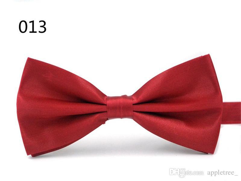 DQT Satin Plain solide rouge pourpre formelle de mariage pour Homme Classique Cravate