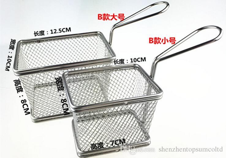 Umweltfreundliche Fry Basket Kartoffelchips Friteuse Serviervorlagen Körbe Kochen Werkzeuge French Fires Basket