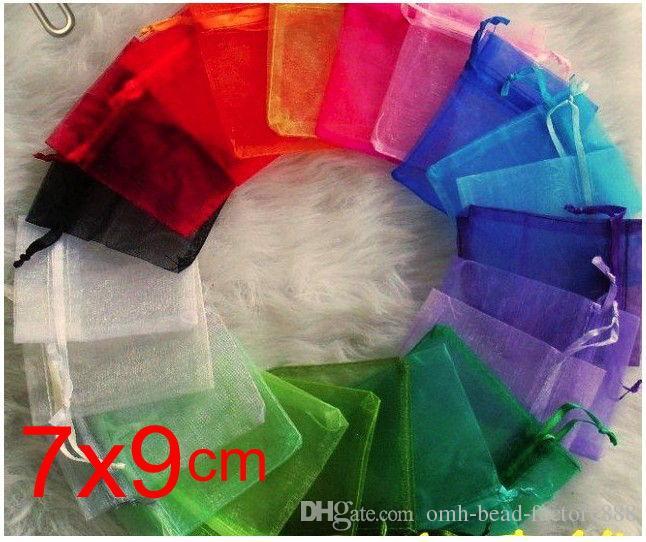 OMH wholesale100pcs 7x9cm 25 цвет смешанный хороший китайский вуаль Рождество / свадебный подарок сумка органза сумки ювелирные подарочный чехол BZ04