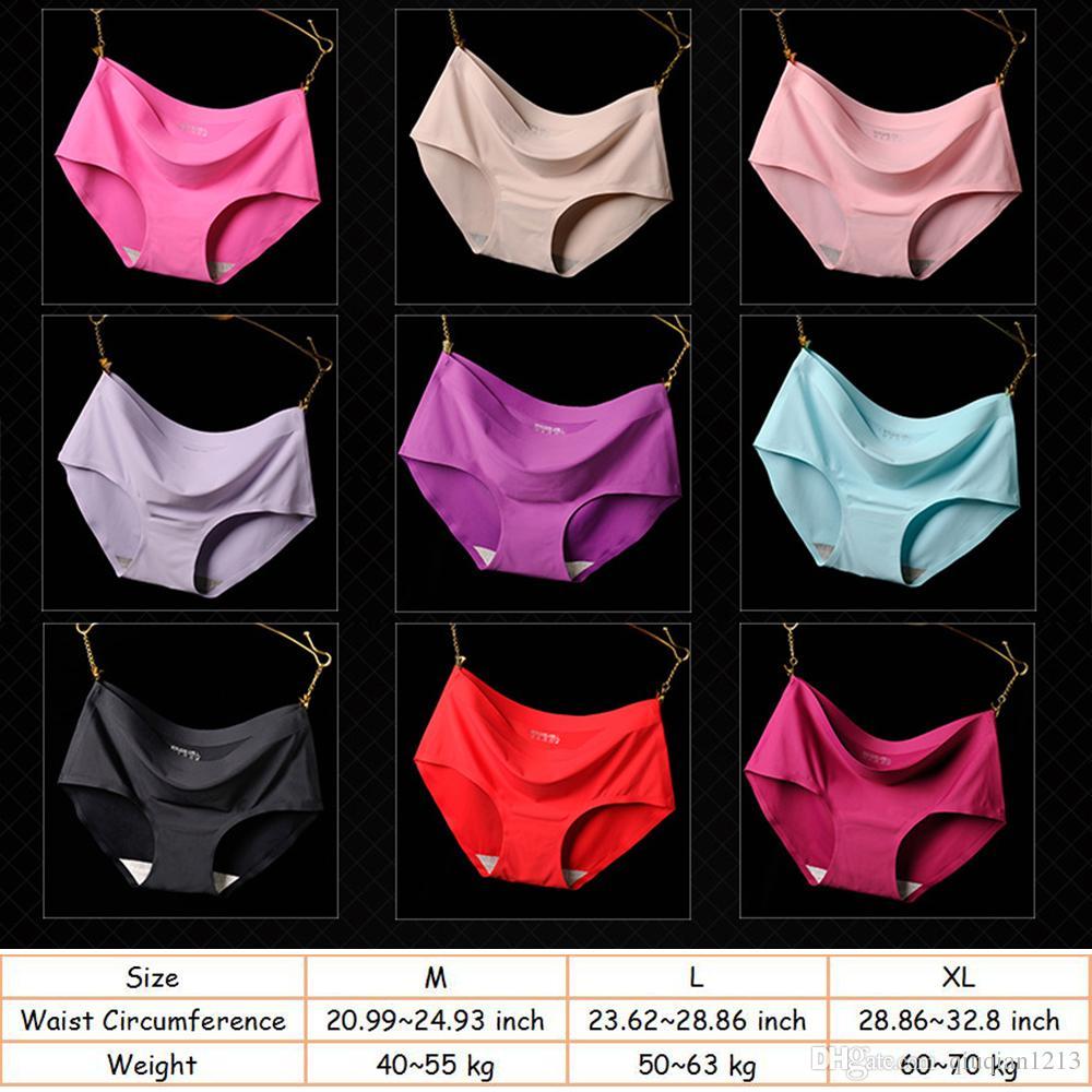 Femmes Ice Silk Seamless Culotte Sous-vêtements Taille Moyenne Respirant Dames Sous-vêtements Culottes Slip Temptation Lingerie féminine