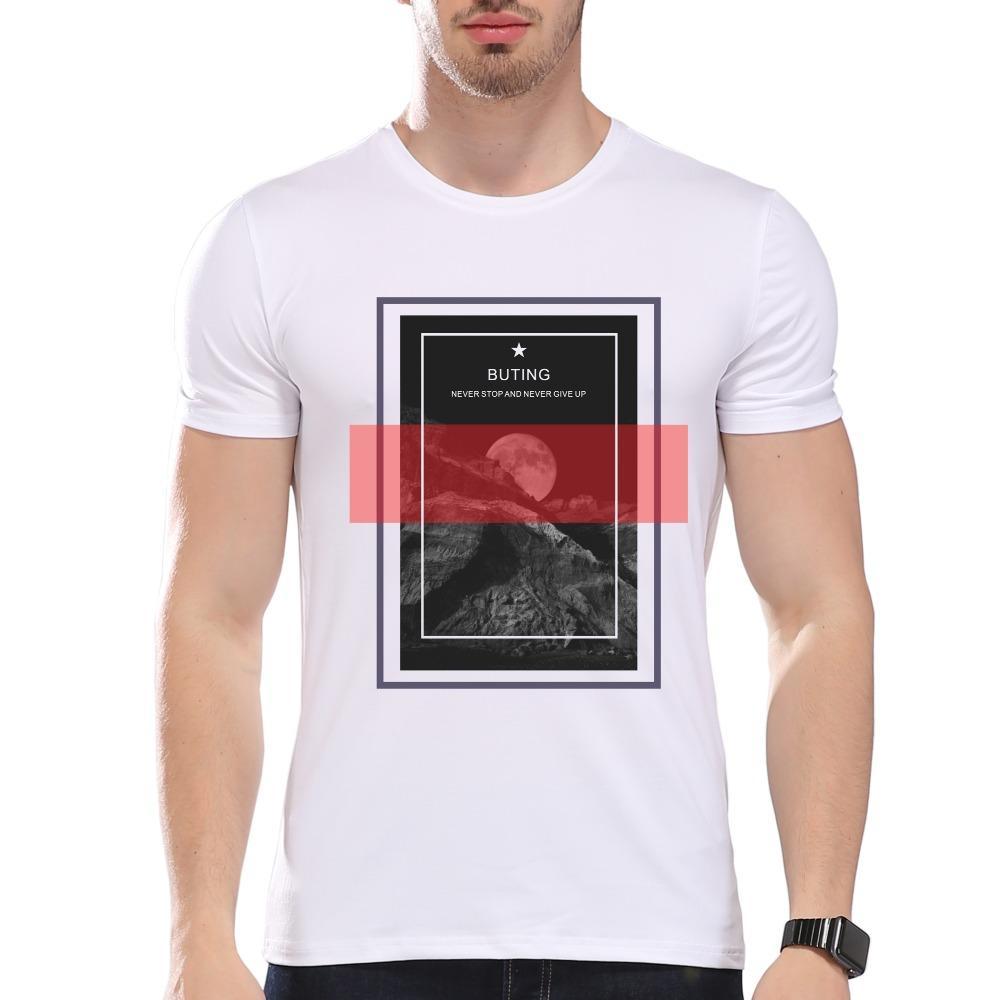 Мужская одежда тройники дешевые мужские никогда не остановить Buting печать футболка мужские летние модальные хипстер тройники