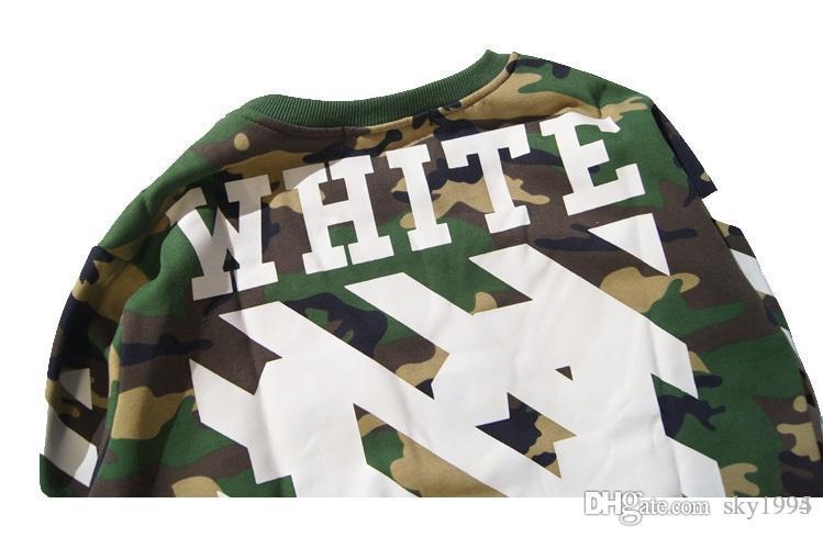 Großhandel Heißer Verkauf OFF WHITE 13 Herren Pullover Streifen Offsetdruck Hoodies Fleece Sweatshirts Marke HBA Vision Religion Malerei VIRGIL ABLOH