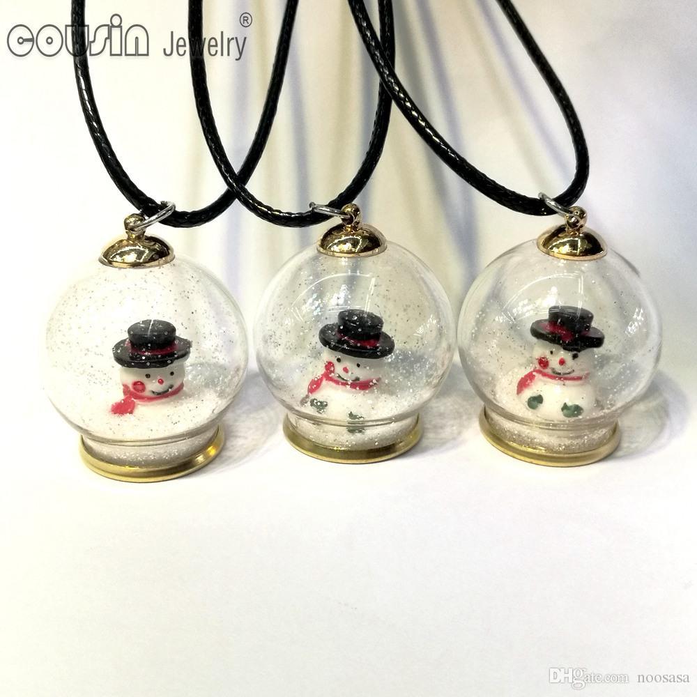 Dz0199 recém-chegados 30 pçs / lote 30 estilos garrafa de vidro pingente de colar de couro para mulher dress moda jóias de design