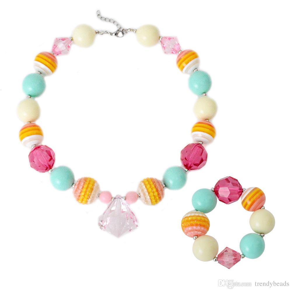 collier de perles bonbon