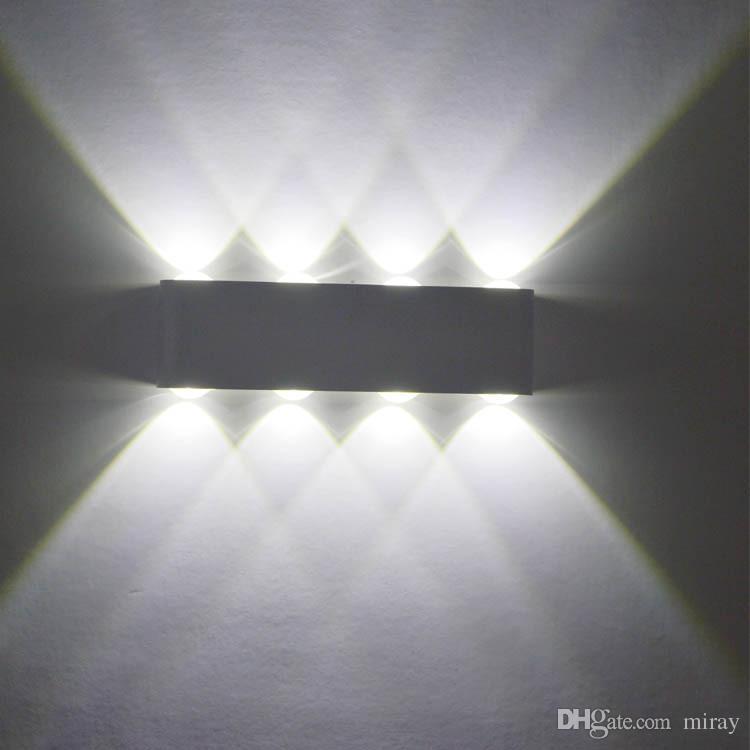 بسيط الحديثة بقيادة مصابيح الحائط الألومنيوم 12 واط أدى الجدار الإضاءة ac85v-265v الشحن مجانا الحديثة ديكور إضاءة ضوء داخلي