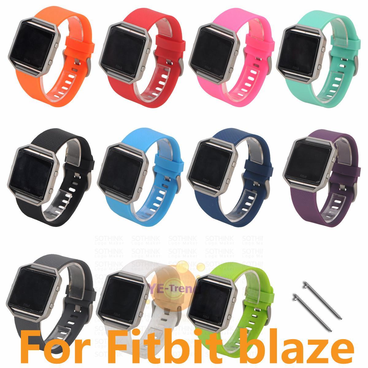 Cinturino in silicone di alta qualità di ricambio cinturino in silicone cinturino in silicone per Fitbit fiammata intelligente orologio braccialetto 11 colori