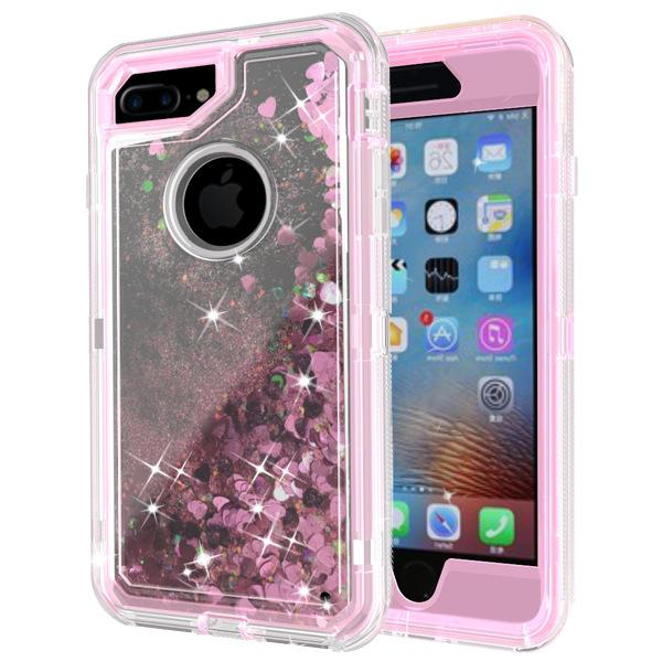 outlet store dbb58 c96ac Transparent Clear Robot Hybrid Armor Tpu Liquid Quicksand Case For Iphone 7  8 Plus X 6s Plus Samsung S9 Glitter Dynamic Phone Case Western Cell Phone  ...