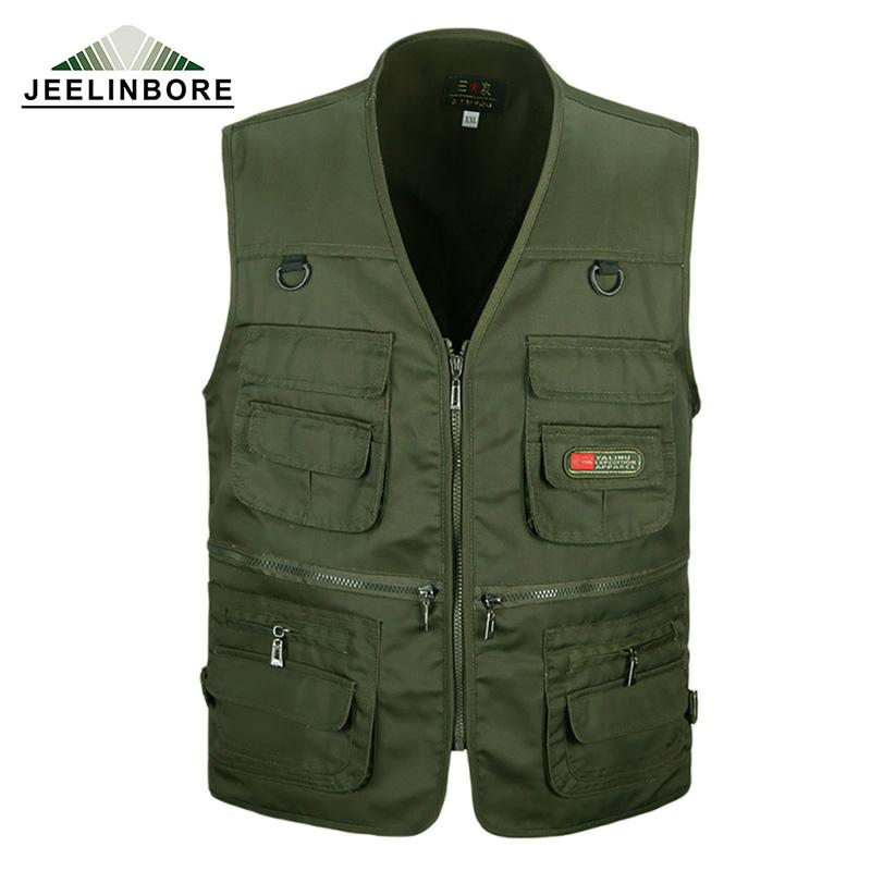 Wholesale- New Arrival Multi-pockets Vest Men Professional Photography Cameraman Mesh Vest for Director Reporter men's Vests Plus Size 3XL