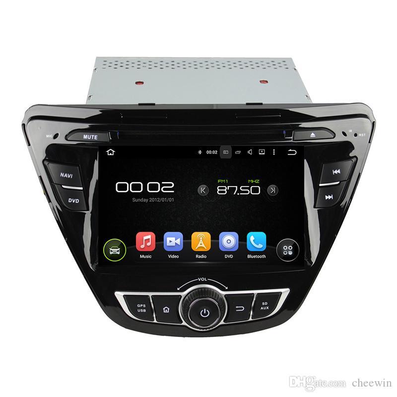 7inch Android HD écran lecteur DVD de voiture pour Hyundai Elantra avec GPS, contrôle du volant, Bluetooth, Radio