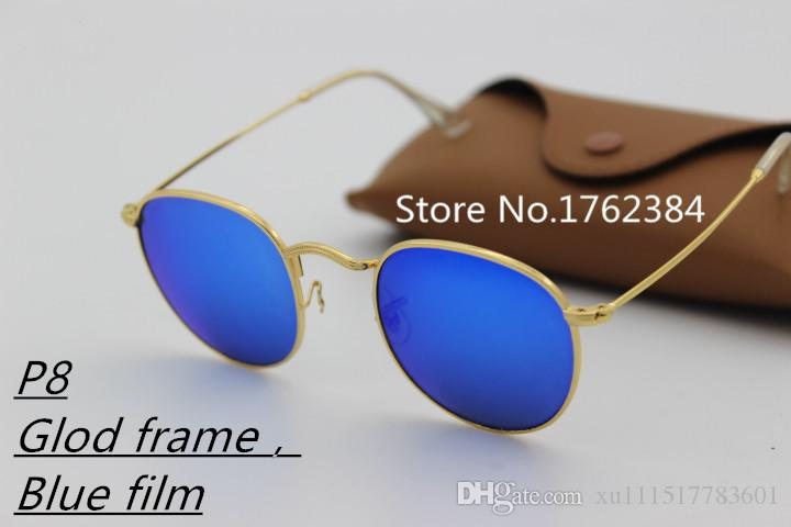 2018 explosion models aluminum frame glass lens unisex fashion travel sunglasses brand designer Vintage Sport radiation glasses