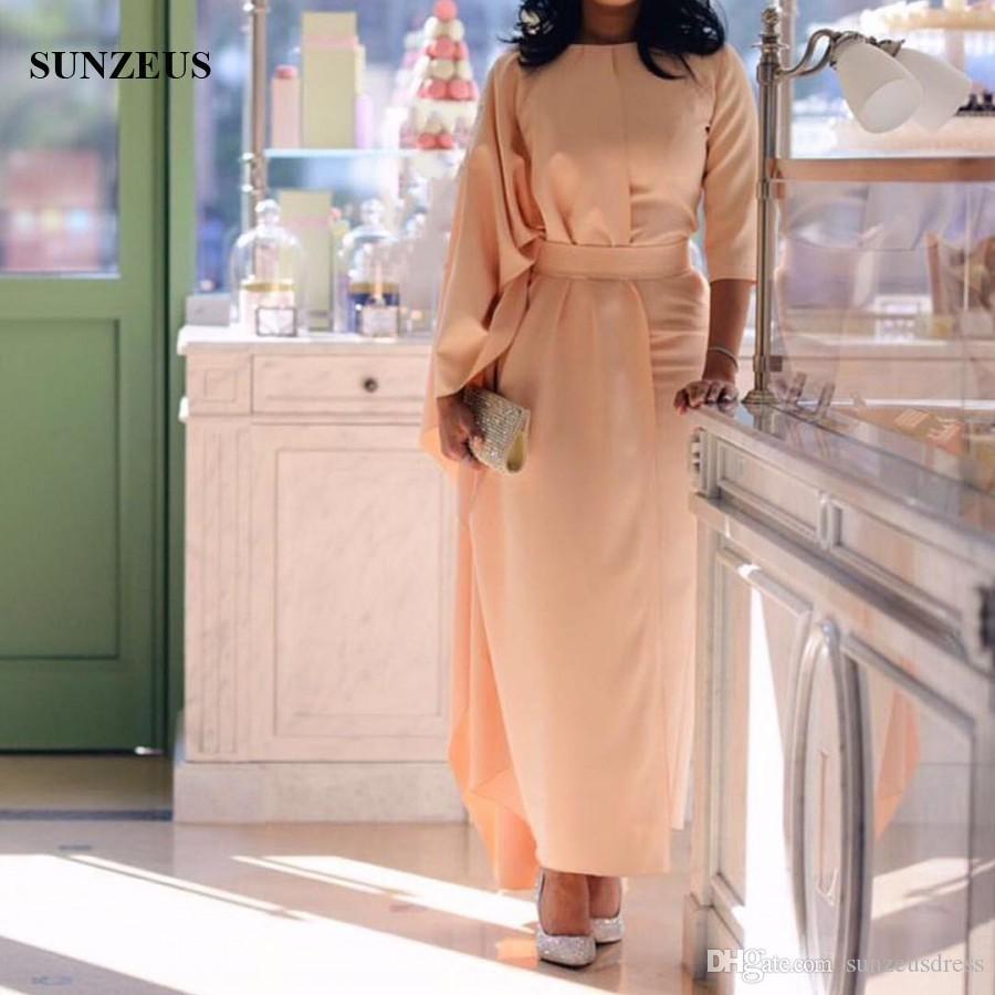 großhandel arabische abendkleider kleider gerade ankle length formal wear  drei viertel Ärmel frauen kaftan kaftan marokkanisch von sunzeusdress,