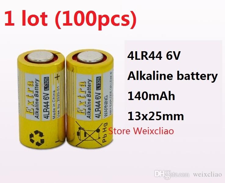 100 قطع 1 وحدة 4LR44 476A 4A76 A544 V4034PX PX28A L1325 6 فولت بطارية قلوية جافة 6 فولت بطاريات شحن مجاني