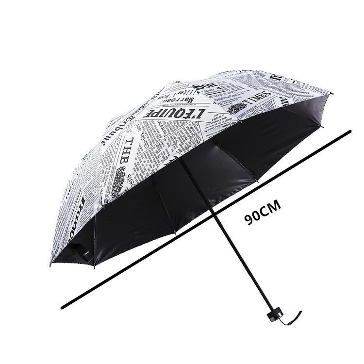 The Sun Rain Parasols Umbrella Novelty Items Pencil White color Newspaper Umbrellas
