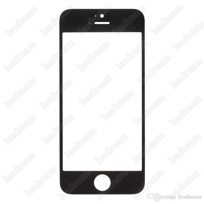 50PCS High Quality Front Outer Touch Screen Glass Replacement Cover for iPhone 5 5s 5c free Shipping