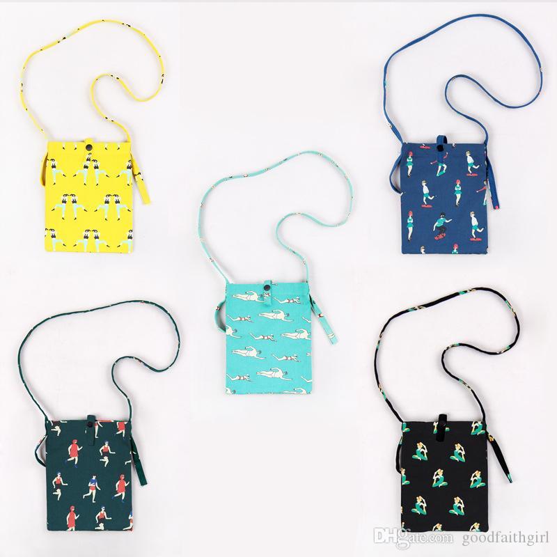 3pc 12OZ canvas Mini travel case Cross-body Neck Strap Lanyard Mobile Phone Shoulder Bag Pouch cell phone Case Handbag Purse Coin Wallet