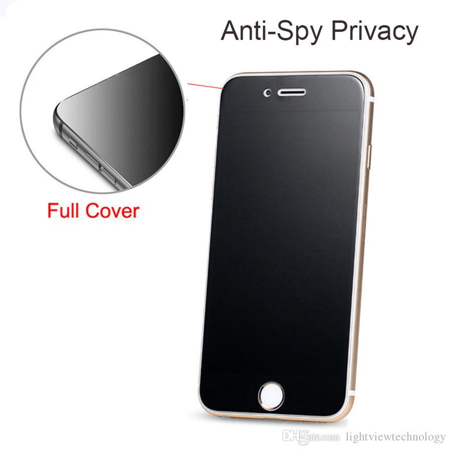 아이폰 XS 맥스 8 7 플러스 개인 정보 보호 화면 보호기 방패 아이폰 6 6S 6.5 인치 XR 용 안티 스파이 강화 유리 들어
