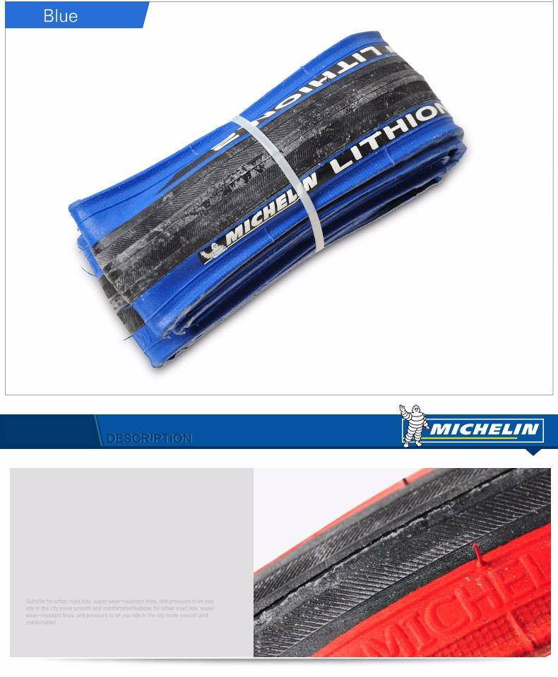 2 tires Michelin Lithion 3  700 x 23 red black