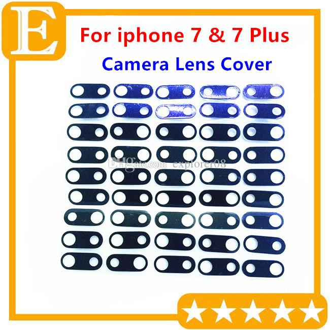 100pcs/Lot Original Camera Lens Glass With Frame for iPhone 7G 4.7'' 7 Plus 5.5'' Back Camera Ring Holder Replacement Parts