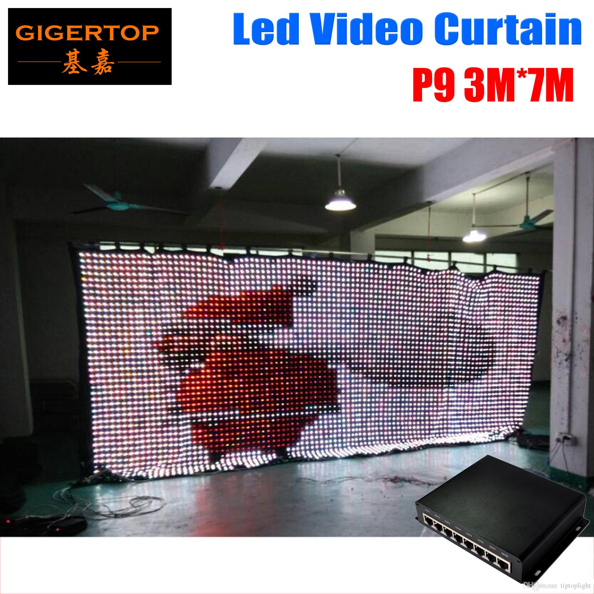 P9 3M*7M LED Vison Curtain With PC Mode Controller Tricolor LED Video Curtain for DJ Wedding Backdrops 90V-240V