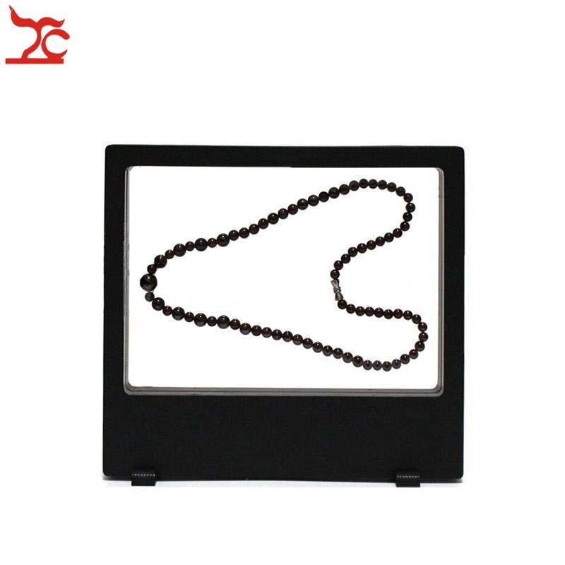Retail Multifunctional PET Elastic Membrane Jewelry Display Window Charm Necklace Bracelet Watch Accessories Display Box 18*20cm
