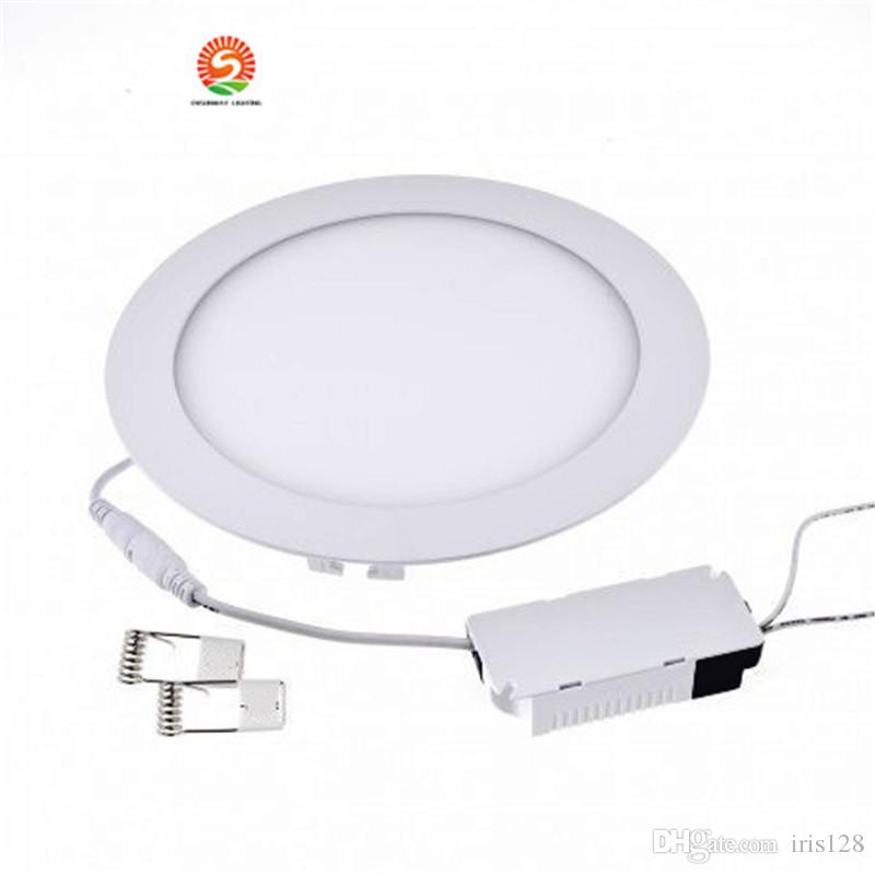 brand new a1203 51b80 Ultra Thin LED Downlight 12w 15w Non Dimmable Led Recessed Ceiling Down  Light SMD2835 6 Led Panel Lights Lamp AC85 265V + Driver Led Ceiling ...