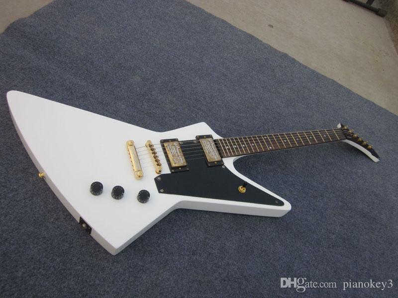 Özel keşfetmek beyaz renk gitar elektrik, Çin mades gitar, ücretsiz kargo