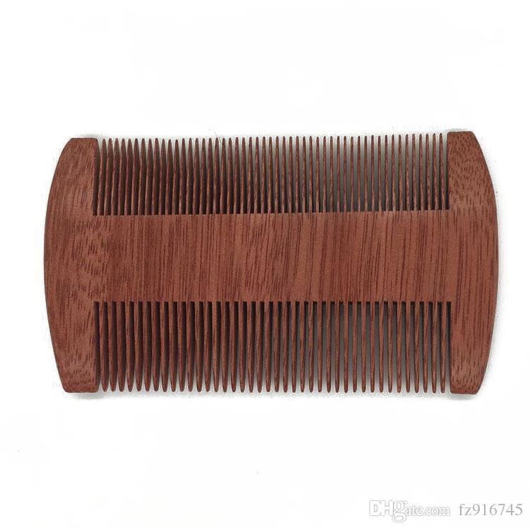 100 шт. / Лот быстрая доставка Пользовательский логотип пустой пустой Amoora Wood Gom Beard Beard Comp Threaded Greated Greathed Boy10CM Длина древесины