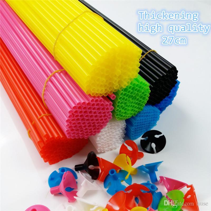 Best Seller 100 unids 27 cm Accesorios de Globo Globo Sticks Holder con tazas Engrosamiento de alta calidad Suministros de Fiesta Decoración