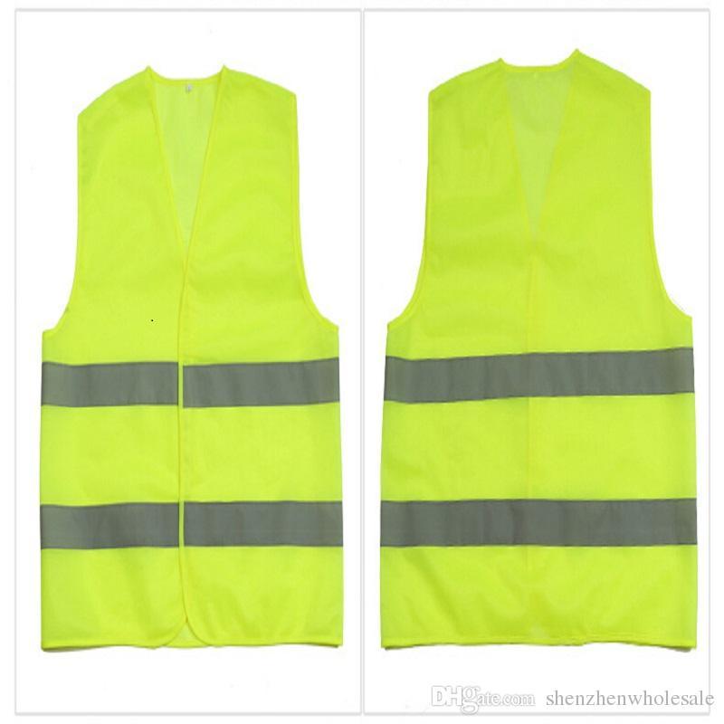 Alta Visibilidade de Trabalho de Segurança Construção Vest aviso de tráfego Reflective trabalhando colete verde Reflective Clothing Segurança