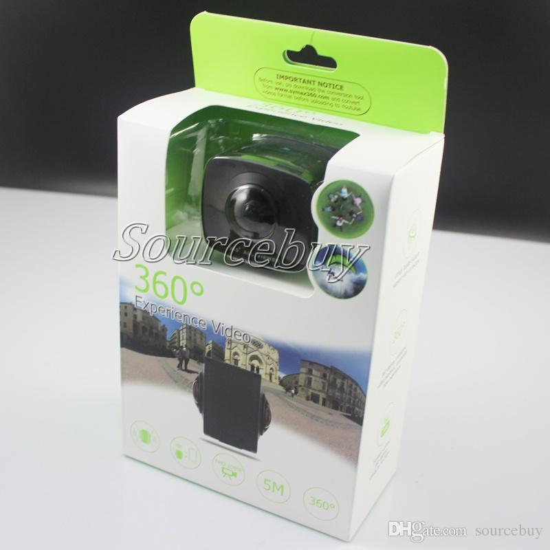 360 Degrees Panoramic VR Camera Double 220° Fisheye Lens Action Cameras  360° Experience Video And Photo SYVR360 APP Phone App Sports Camera Video