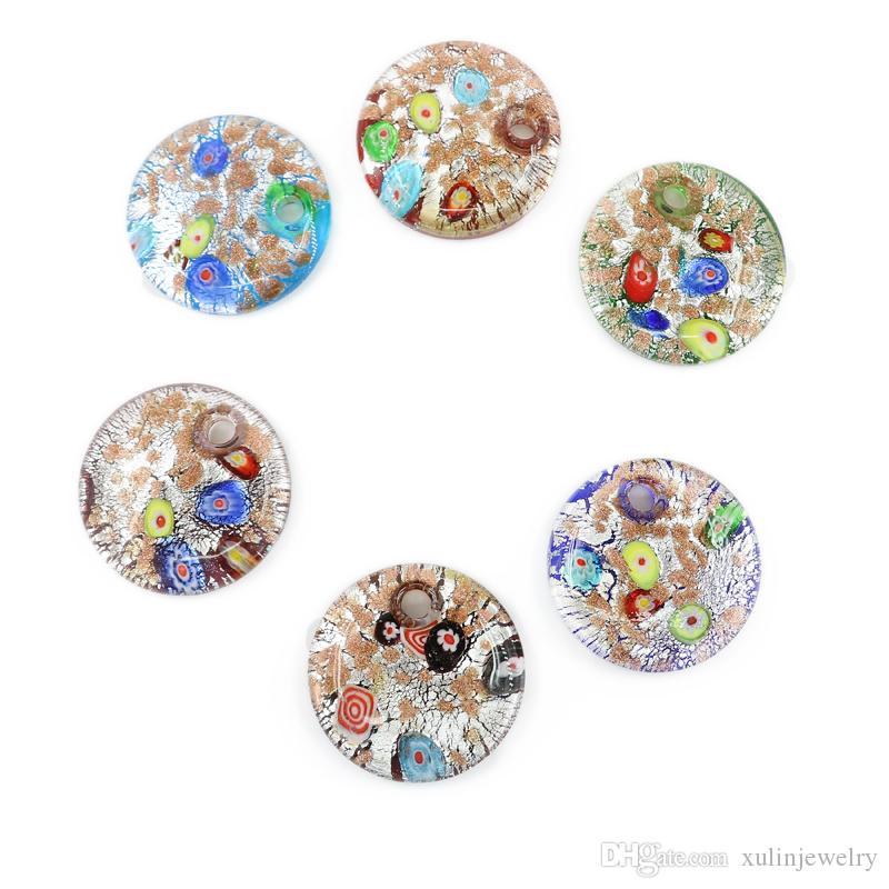 Para la fabricación de collar Diy murano colgantes de cristal Venta caliente Moda 12 piezas / caja Para la fabricación de joyería Diy MC0023