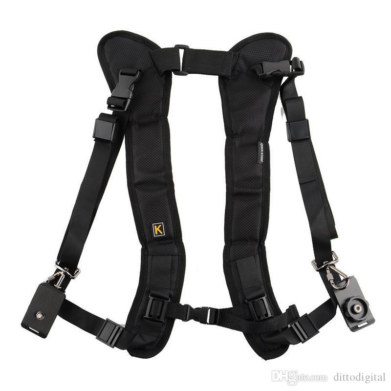 vintage camera shoulder strap for SLR DSLR Nikon Canon Sony Panasonic quick straps black double shoulder straps fast photography sling
